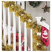 Christmas Tinsel, Gold, 10m