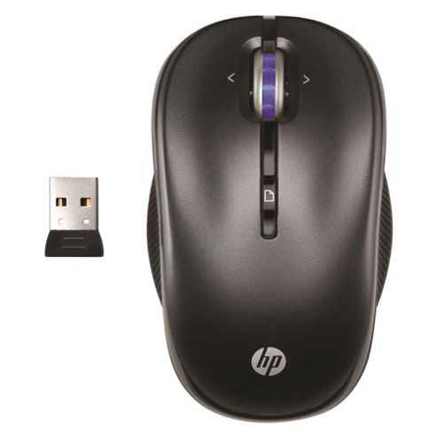 HP 2.4GHz Wireless Optical Mobile Mouse - Black