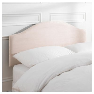 Seetall Laredo Headboard Cream Faux Suede King