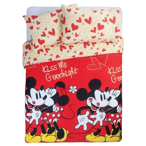Disney Mickey and Minnie Double Duvet Cover Set