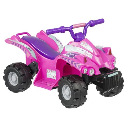Evo ATV Quad Bike Electric Ride-On Pink & Purple