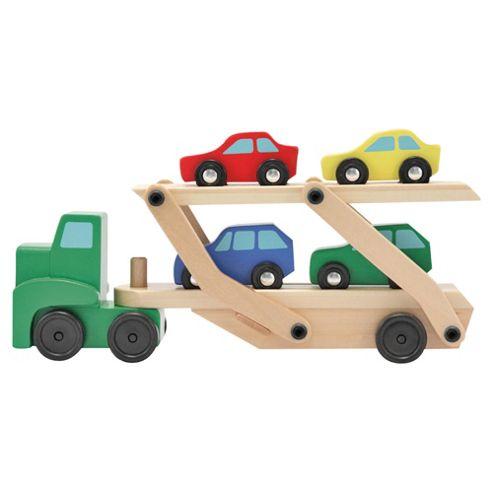 Melissa & Doug Wooden Toy Car Carrier