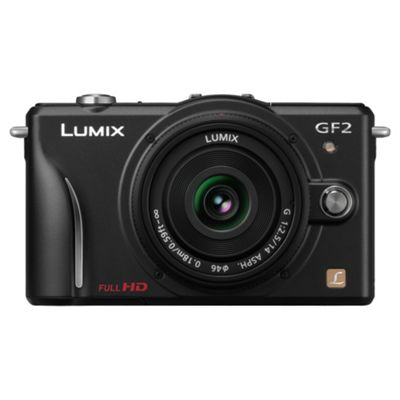 Panasonic Lumix GF2 Compact System Camera (with 14mm Lens) - Black