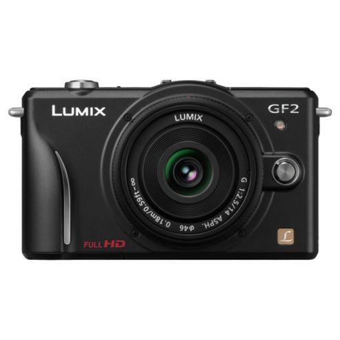 Panasonic Lumix GF2 Compact System Camera (with 14mm Lens) - Black