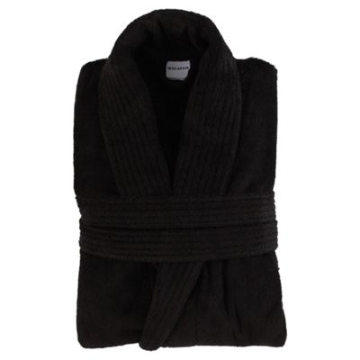 Finest towelling robe Black S/M