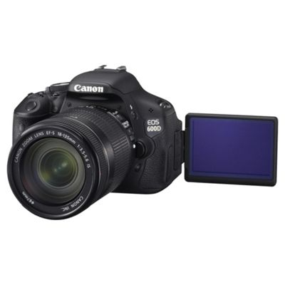 Canon EOS 600D Digital SLR Camera (Inc 18-135mm f3.5-5.6 IS II Lens Kit)