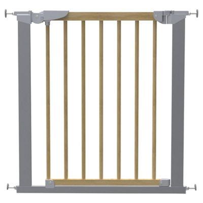 Babydan Avantgarde Pressure Indicator Safety Stair Gate, Silver & Beech
