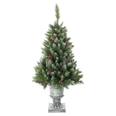 Festive 4ft Dunedin Potted Pine Christmas Tree