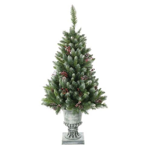 Festive 4ft Dunedin Potted Pine Christmas Tree