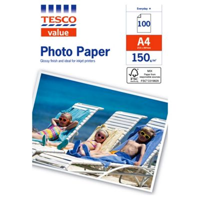 Tesco Value A4 Photo Paper - 100 Sheets