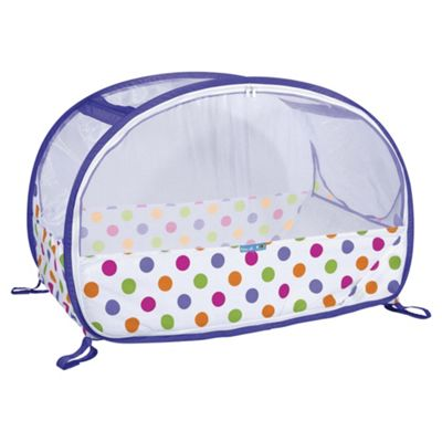 Koo-di Pop Up Bubble Travel Cot, Purple Polka