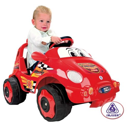 Injusa Racing Car Battery Operated Ride-On, Red