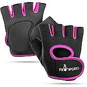ProWorks Women s Padded Grip Black Fingerless Gym Gloves - Medium