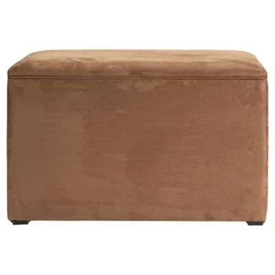 Seetall Ottoman Chocolate Faux Suede