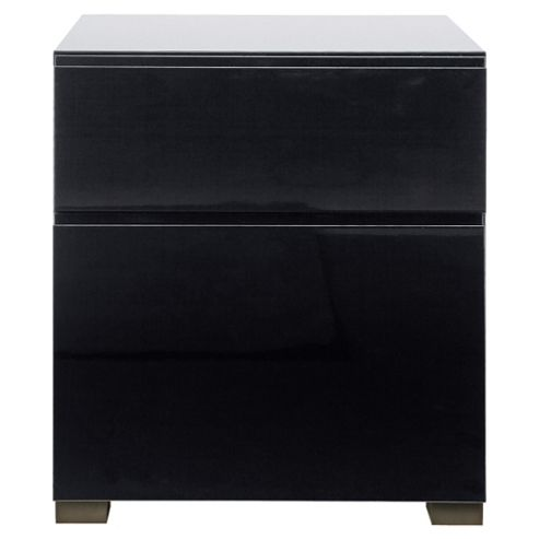 Urban 2 Drawer Filer, Black Gloss