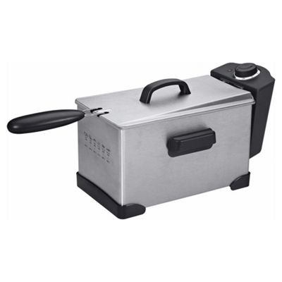 Tesco 3L Pro Deep Fat Fryer - Stainless Steel