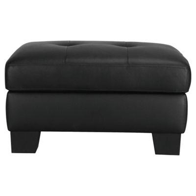 Utah Storage Footstool, Black