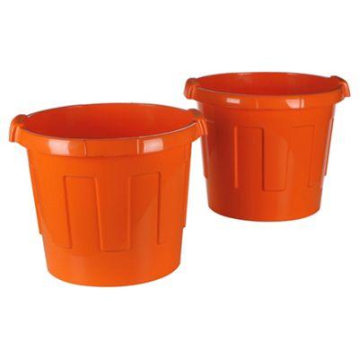 Wizz-It Tubs, 2 Pack Orange