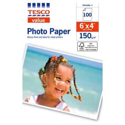 Tesco Value 6X4 Photo Paper - 100 Sheets