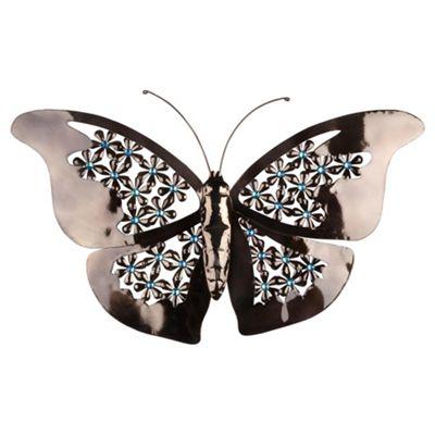 Jewelled Metal Butterfly