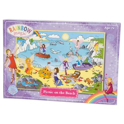 Rainbow Magic Glitter Puzzles -Picnic On The Beach