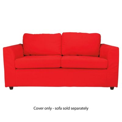 Ashley Loose Cover For Medium Sofa, Red