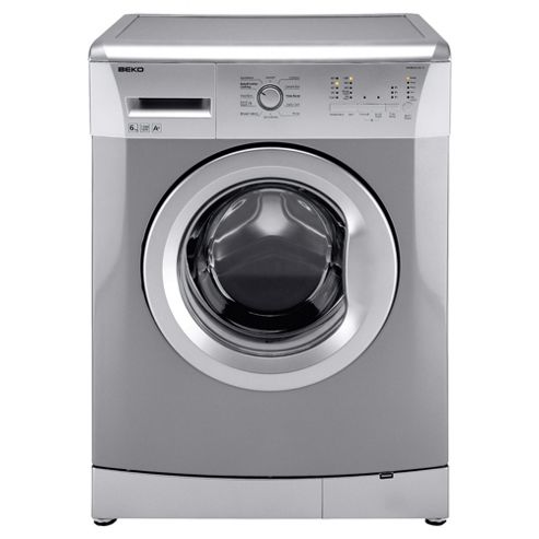 Beko WMB61221S Washing Machine, 6kg Wash Load, 1200 RPM Spin, A+ Energy Rating. Silver
