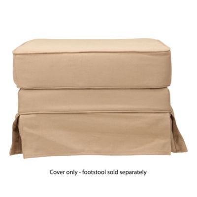Louisa Loose Cover For Footstool, Sand