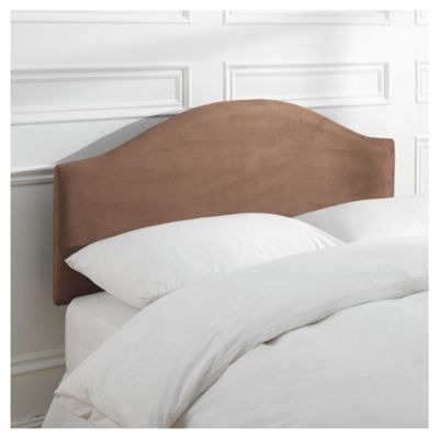 Laredo King Faux Suede Headboard, Chocolate