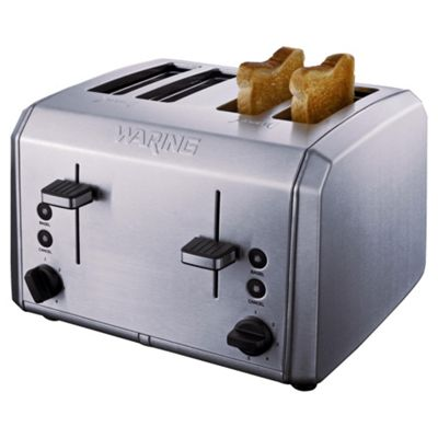 Waring WT400U 4 Slice Stainless Steel Toaster - Silver