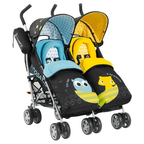 Cosatto You2 Twin Pushchair, Owl & Pussycat