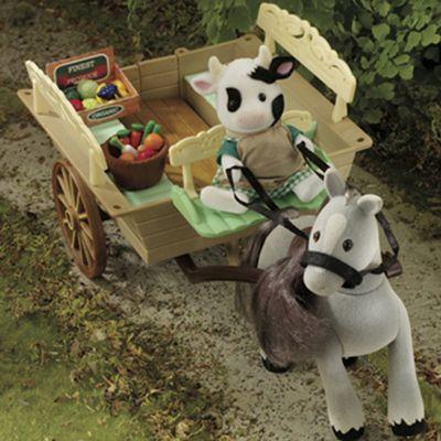 Sylvanian Families Farm Cart and Pony