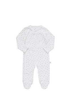 F&F Born In 2017 Slogan Sleepsuit - White