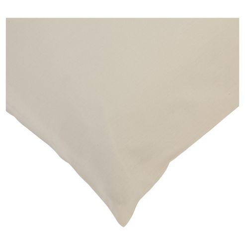 Tesco 100% Cotton Pillowcases Set of 2 Cappucino