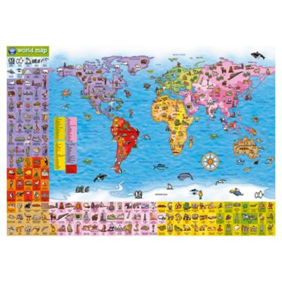 Buy orchard toys world map puzzle poster jigsaw puzzle from our orchard toys world map puzzle poster jigsaw puzzle gumiabroncs Images