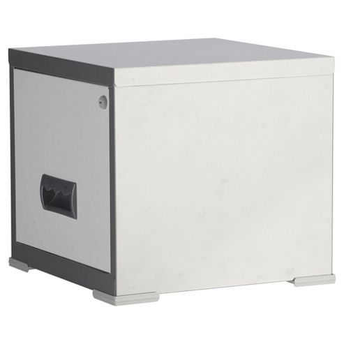 Pierre Henry A4 1 Drawer Maxi Filing Cabinet, Silver With White Drawer