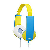 JVC HAKD5/YELLOW Tiny Phones Kids Stereo Headphones - Yellow/Blue