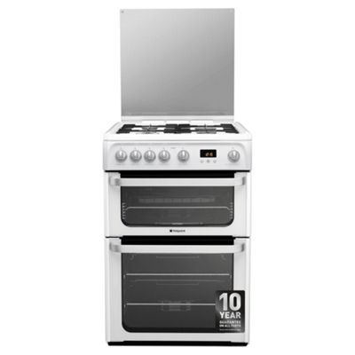 Hotpoint Ultima Gas Cooker with Gas Grill and Gas Hob, HUG61P - White