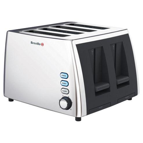 Breville VTT273 4 Slice Toaster - Polished Stainless Steel