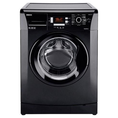 Beko WMB81241LB Washing Machine, 8kg Wash Load, 1200 RPM Spin, A+ Energy Rating. Black