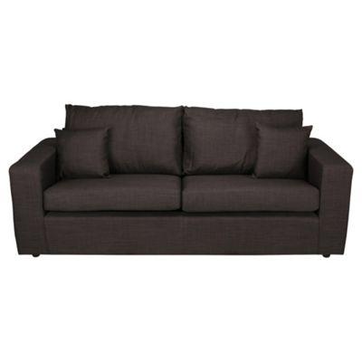Maison Fabric Large 3 Seater Sofa, Gunmetal