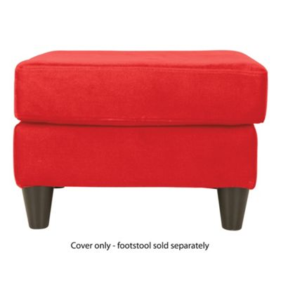 Ashley Loose Cover For Footstool, Red