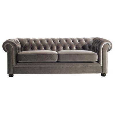 Chesterfield Velvet effect Medium Sofa, Mink