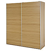 Smith Slider Large Double Sliding Wardrobe, Oak Effect
