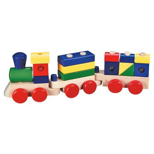 Melissa & Doug Wooden Toy Stacking Train