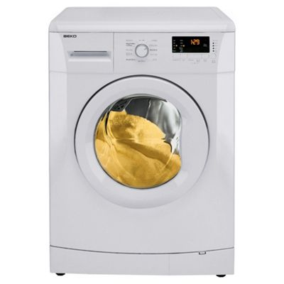 Beko WMB71231W Washing Machine, 7kg Wash Load, 1200 RPM Spin, A+ Energy Rating. White