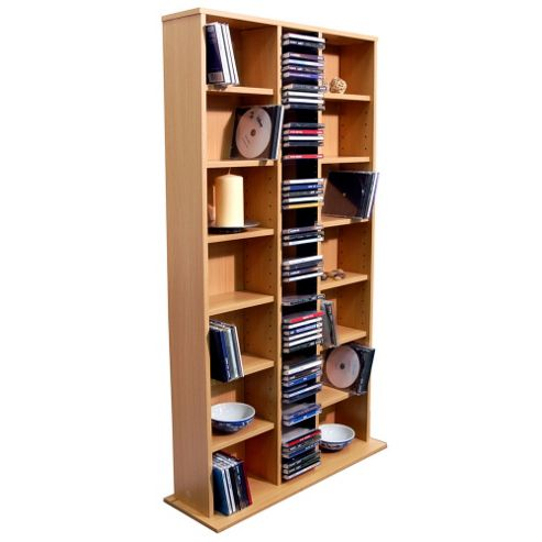 Techstyle CD DVD Media Storage Shelves - Beech