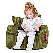 Lounge Pug® Toddlers Armchair Bean Bag - Cord Lime Green