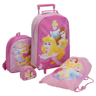 Disney Princess 4-Piece Kids' Luggage Set