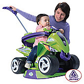 Injusa Goliath 6-in-1 Quad Bike Ride-On, Green/Purple